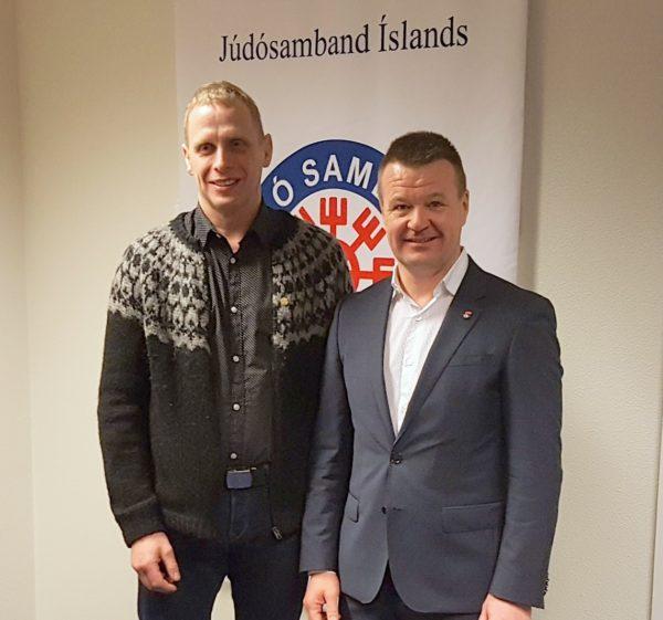 Bergur Pálsson og Jóhann Másson formaður JSÍ